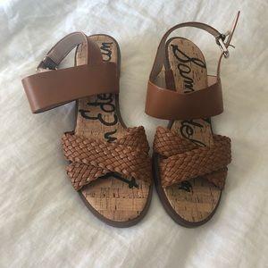 Gold Block Heel Sandals